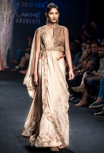 gold-toned-sharara-with-drape-blouse