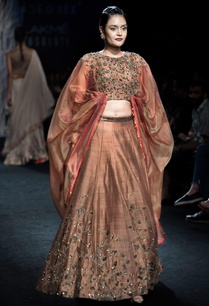 taupe-embroidered-blouse-with-raw-silk-lehenga