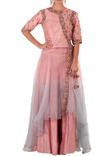 pink-blue-double-layer-anarkali