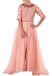 pink-thread-knot-kurta-and-pants