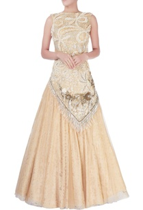 beige-sequin-embellished-lehenga-set