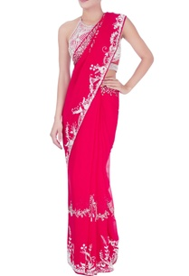 red-sequin-embellished-sari-halter-blouse