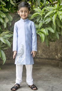 scabiosa-blue-sherwani-white-churidar-set