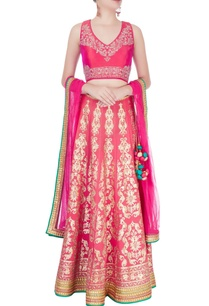 fuschia-embellished-lehenga-set