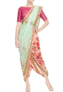 pista-green-velvet-sari