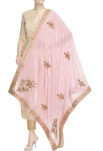 pink-embroidered-velvet-dupatta