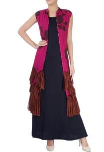 pink-printed-jacket-dress