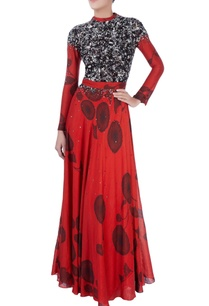 red-maxi-dress-with-sequin-embellishments