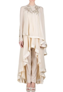 beige-layered-embroidered-kurta-set