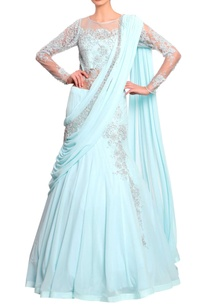 aquamarine-blue-lace-sari-gown