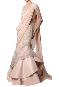 powder-pink-beaded-sari-gown