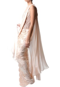 powder-pink-embroidered-sari-gown