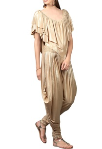 gold-shimmery-draped-jumpsuit