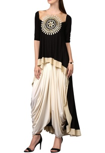 black-tunic-with-chakra-applique