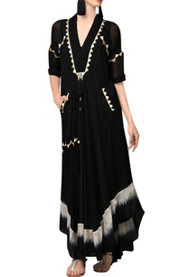 black-kaftan-maxi-with-gold-applique