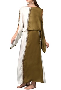 white-olive-green-maxi-dress