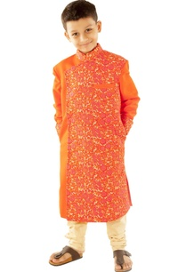 orange-floral-embroidered-sherwani