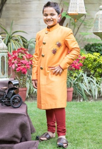 orange-bug-sherwani-with-churidar