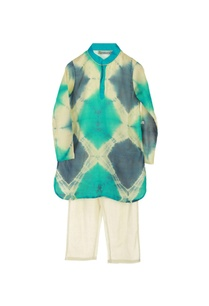 turquoise-dyed-kurta-with-pyjamas