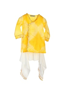 yellow-tie-dye-kurta-dhoti-pants