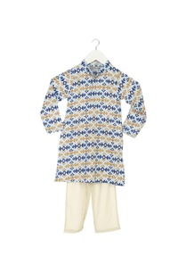 light-blue-ikkat-kurta-pyjama