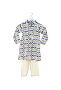 light-blue-ikkat-kurta-pyjama