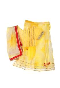 yellow-tie-dyed-lehenga-set