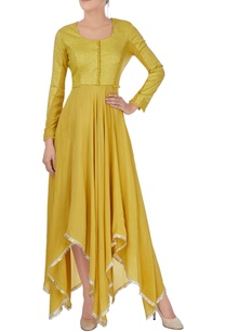 mustard-yellow-asymmetric-anarkali
