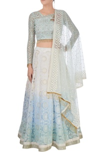 white-blue-embroidered-lehenga-set