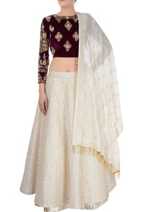 ivory-purple-lehenga-set