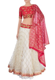 ivory-red-lehenga-set