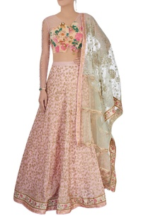 light-pink-embroidered-lehenga-set