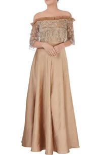 brown-embroidered-tasseled-gown