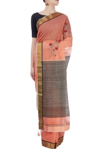 peach-black-sari-with-embroidery