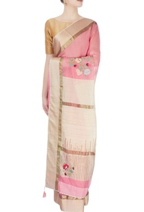 pink-beige-sari-with-embroidery