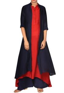navy-blue-red-jacket-kurta