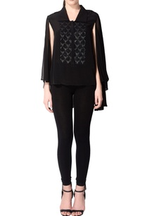 black-batwing-sleeved-top