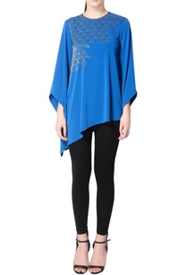 royal-blue-embroidered-tunic