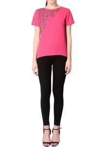 fuchsia-pink-embroidered-top