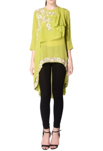 parrot-green-layered-floral-tunic