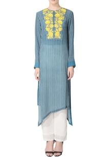 blue-striped-kurta-set-with-embroidery