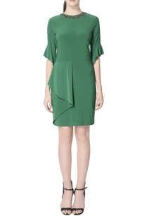 green-dress-with-side-drape