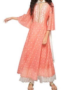 peach-embroidered-kurta-with-dupatta