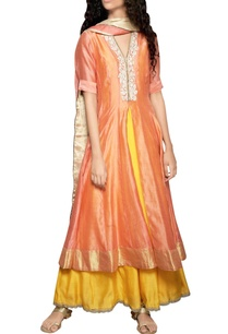 peach-cutwork-kurta-dupatta-set