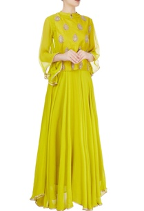 lime-green-gota-embroidered-kurta-set