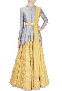 light-yellow-grey-embroidered-lehenga-set