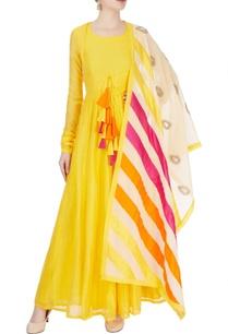 yellow-anarkali-with-tassels