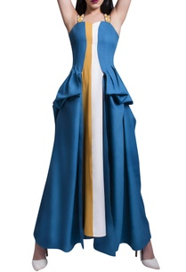 blue-mustard-white-maxi-dress