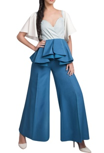 powder-blue-peplum-top-teal-blue-pants