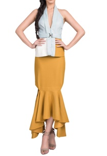 powder-blue-mustard-jacket-with-skirt